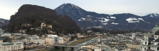 View of Salzburg with Kapuzinerberg (where Zweig lived) on the left.